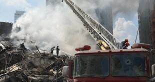 Prédio de 26 andares em chamas desaba em São Paulo