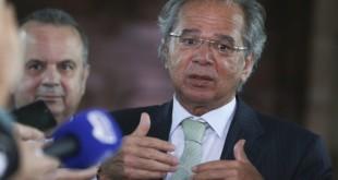 O ministro da Economia, Paulo Guedes, após reunião.