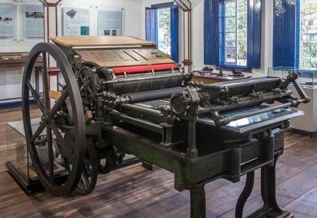 máquina impressora do século 19 | Aconteceu no Vale